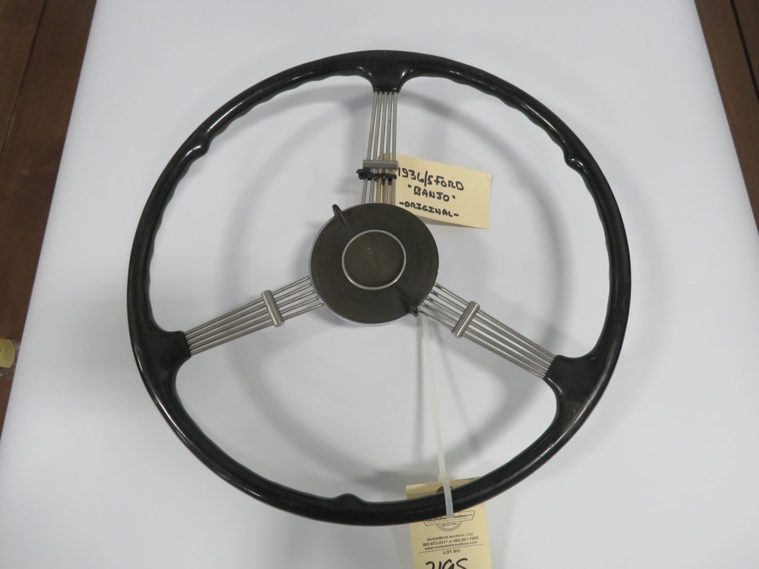 1936 Ford Banjo Steering Wheel/ Horn Button - Image 1