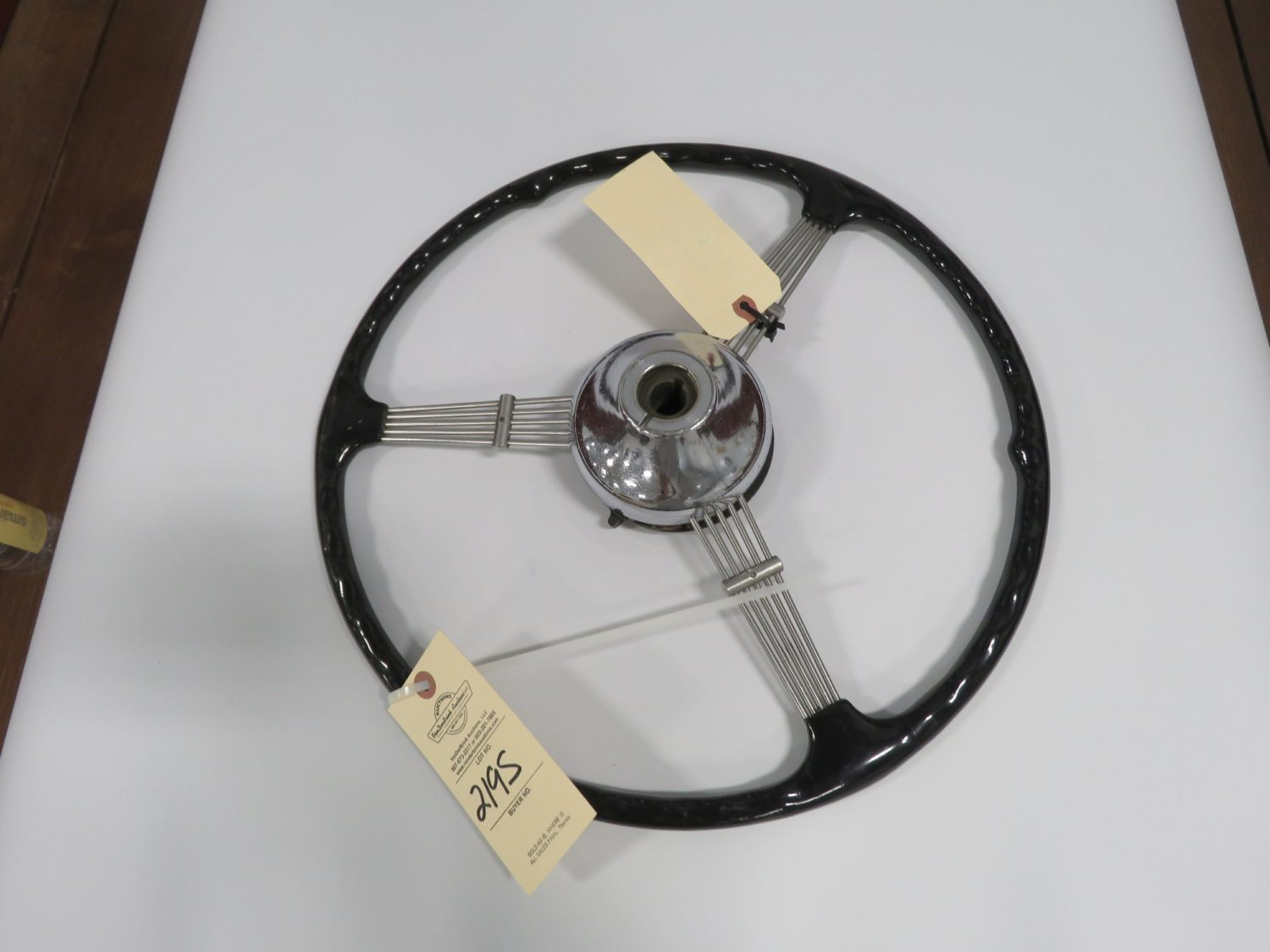 1936 Ford Banjo Steering Wheel/ Horn Button - Image 2