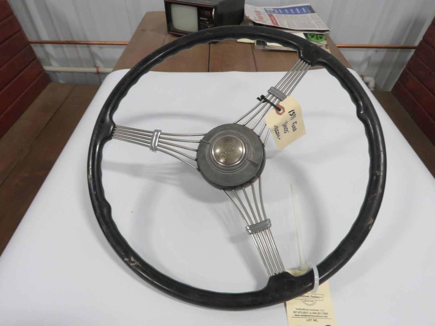 1939 Ford Banjo Steering wheel w/Horn Button - Image 1