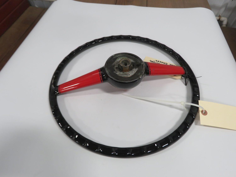 1940 Ford Custom  Steering Wheel, Cut down w/horn button restored - Image 2