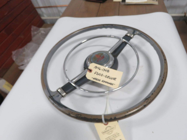 1946-1948 Ford Standard Steering Wheel w/horn ring original - Image 1