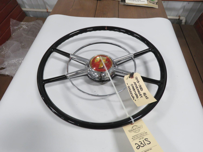 1949/50 Ford Crestline Black Steering Wheel Original - Image 1