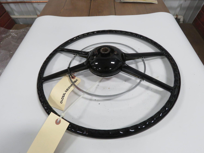 1949/50 Ford Crestline Black Steering Wheel Original - Image 2