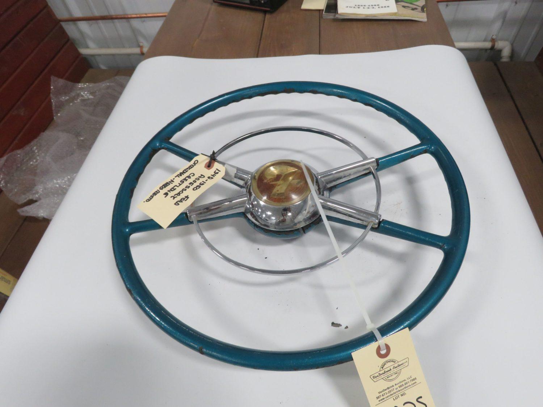 1949/50 Ford Crestline Green Steering Wheel Original - Image 1