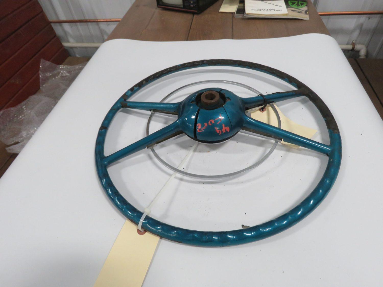 1949/50 Ford Crestline Green Steering Wheel Original - Image 2