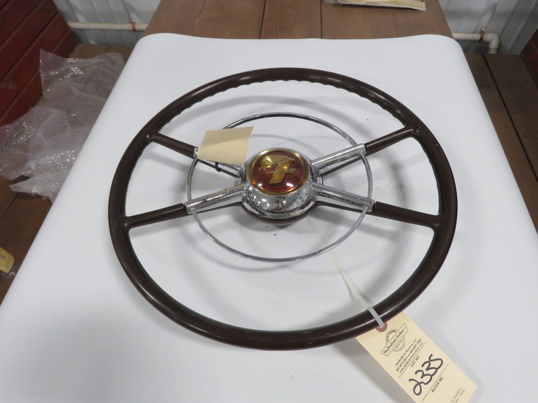1949/50 Ford Crestline Steering Wheel Brown Original - Image 1