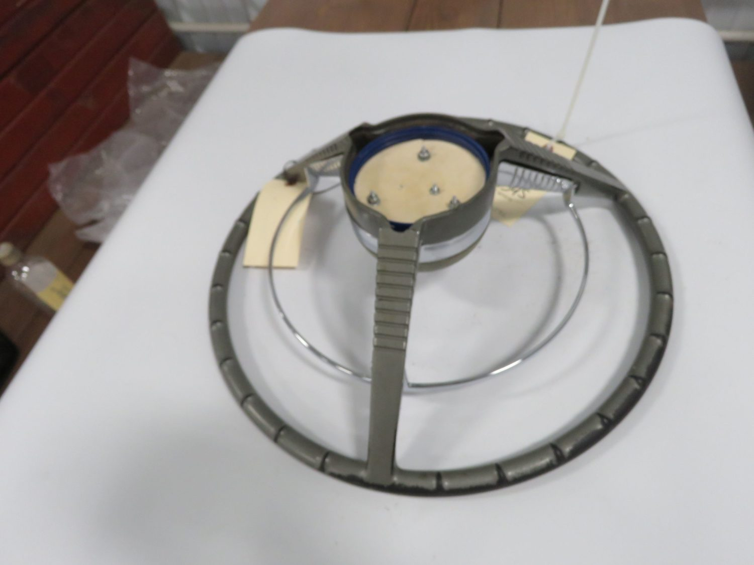 1958 Ford Edsel Pushbutton Steering Wheel w/Horn Ring - Image 2