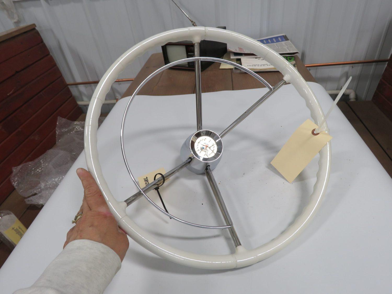 1958 mercury TPC Custom Steering Wheel White - Image 1