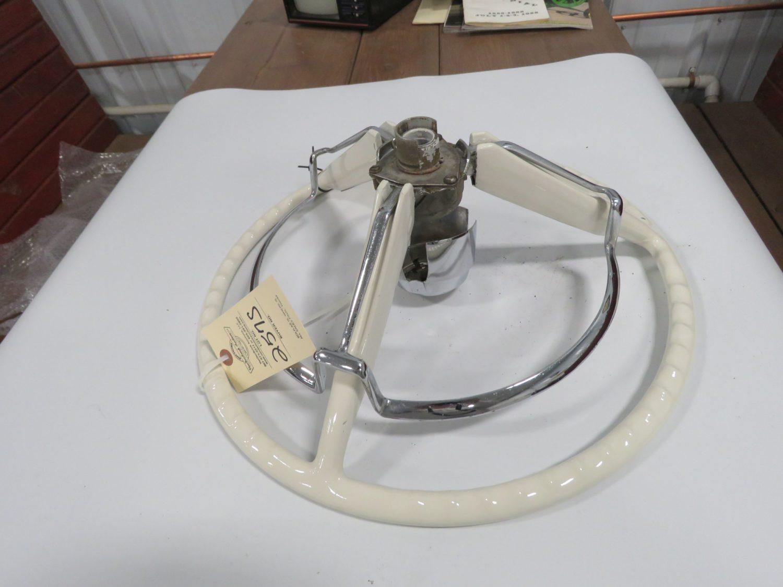 1958-1960 Ford T-Bird White Steering Wheel w/Horn Ring - Image 2