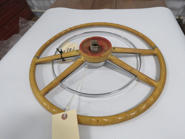 1954 Ford Crestline White Steering Wheel  - Image 2