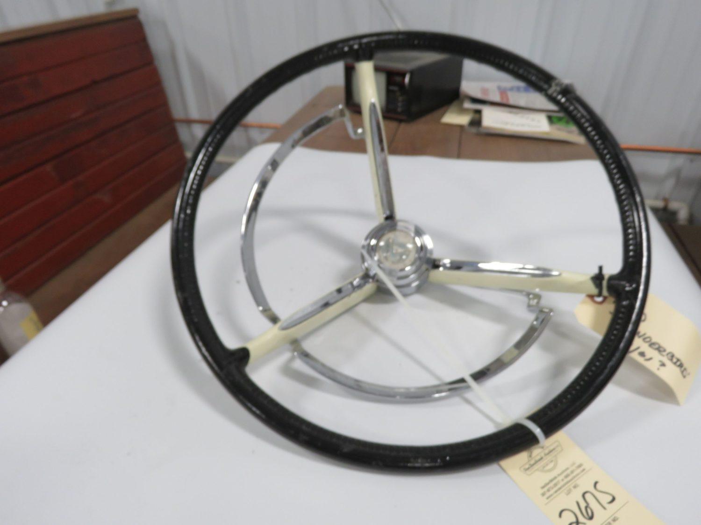 1960/61 Ford T-Bird White Steering Wheel - Image 1