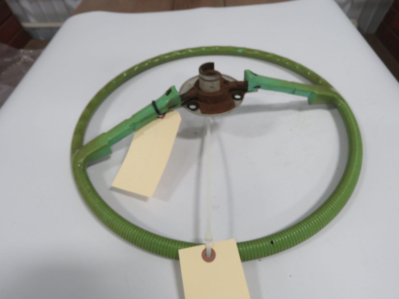 2-1955 Ford T-Bird Steering Wheels Black/Green - Image 2