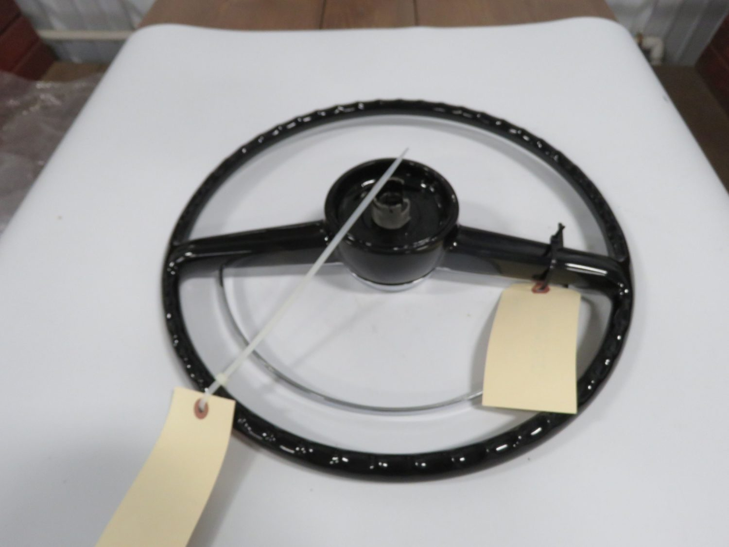 1953 Ford Modified Black 16 inch Steering Wheel - Image 2