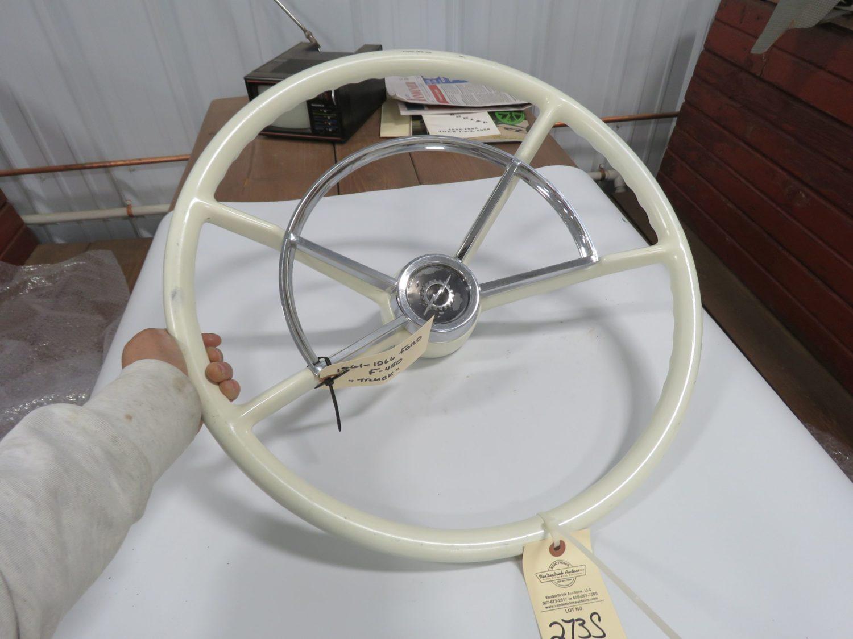 1960/66 Ford F350 Truck White Steering Wheel Restored - Image 1